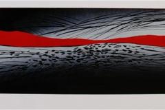 Fra et oeyeblikk Linosnitt 80x20 cm 2600 ur