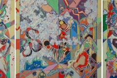Roman om Adam og Eva Akrylmaleri 110x284 cm 25000 ur