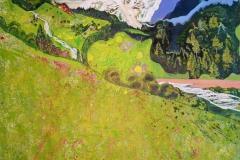 Sommer Akrylmaleri 99,5x98 cm 8000 ur