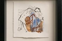 PA 196 Akryl på papir (15x15 cm) kr 500 mr