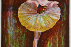 Ballerina Litografi 28x20 cm 2000 ur