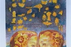 Drommevev Litografi handkolorert (32x23 cm) kr 1800 ur