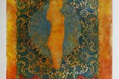 Hennes teppe III Collagrafie 46x37,5 cm 3800 ur