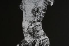 Kvinetorso Seriegrafi 30x22 cm 2000 ur