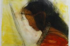 Masai med spyd Etsning 37,5x45,5 cm 3800 ur
