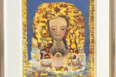 Pikeportrett Litografi (35x28 cm) kr 4400 mr
