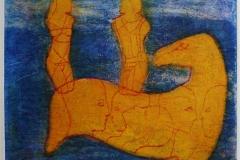 Ryttere (variant) Collagrafi 37,5x45,5 cm 3800 ur