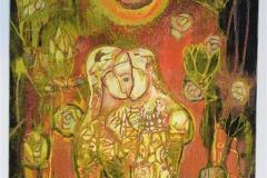 Samspill med lotusblomster Litografi, bl.tk. (39x33 cm) kr 3500 ur
