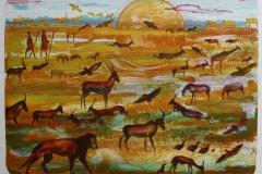 Serengeti II Litografi 37,5x48,5 cm 3500 ur