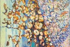 Høstbukett - Floragram VI Akrylmaleri (46x38 cm) kr 5000 ur