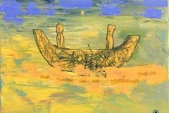 Reisen Akrylmaleri (30x40 cm) kr 5000 ur