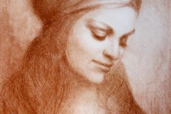 Stillhet Litografi 43,5x31 cm 1200,-kr u.r.