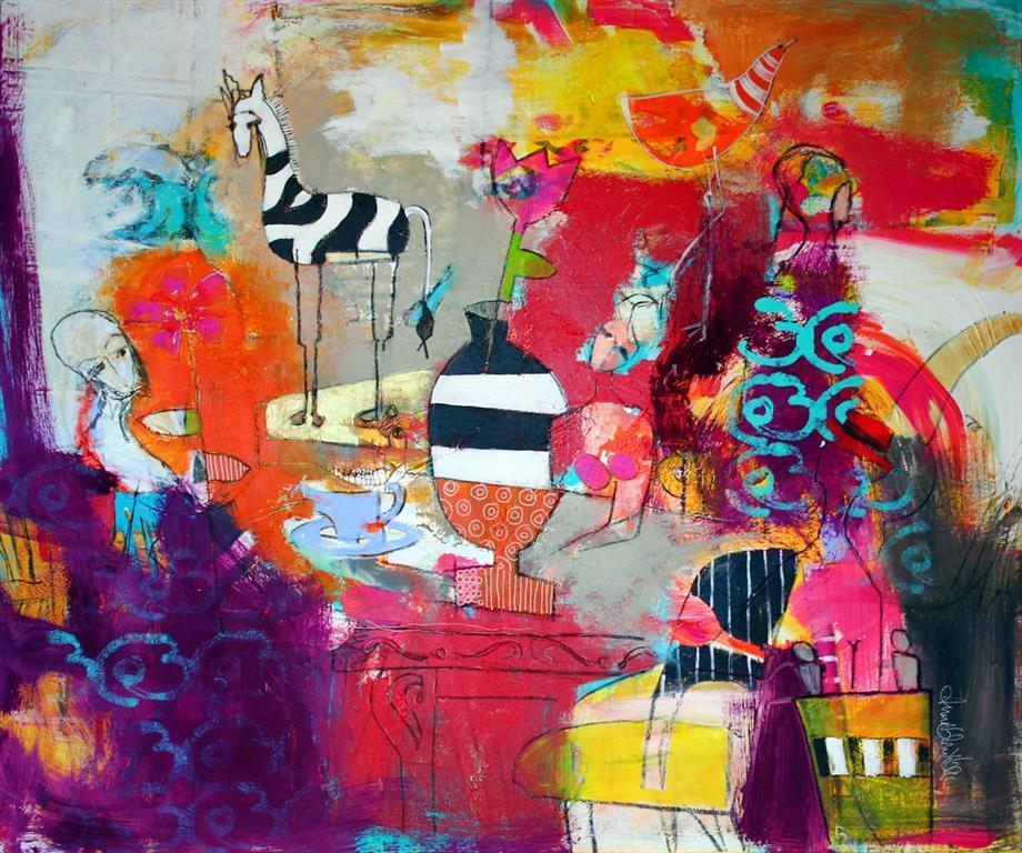 Den kvelden Akrylmaleri 100x120 cm 12000 ur