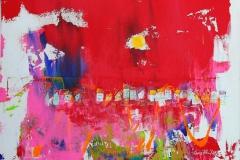 Der tiden moetes Akrylmaleri 60x60 cm 6000 ur
