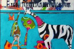 En ny venn Akrylmaleri 60x60 cm 6000