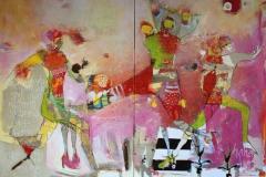 Et annet lys Akrylmaleri 120x160 cm 17 000 ur