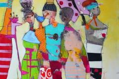 Kronen og oerene Akrylmaleri 90x90 cm 9000 ur