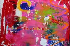 Naar tiden kommer tilbake Akrylmaleri 40x40 cm 4000 ur
