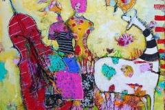 Sommerfugllandet Akrylmaleri 40x40 cm 4000 ur SOLGT
