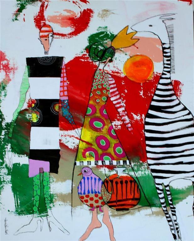 Det ingen har hort Akrylmaleri (100x80 cm) kr 9500 ur
