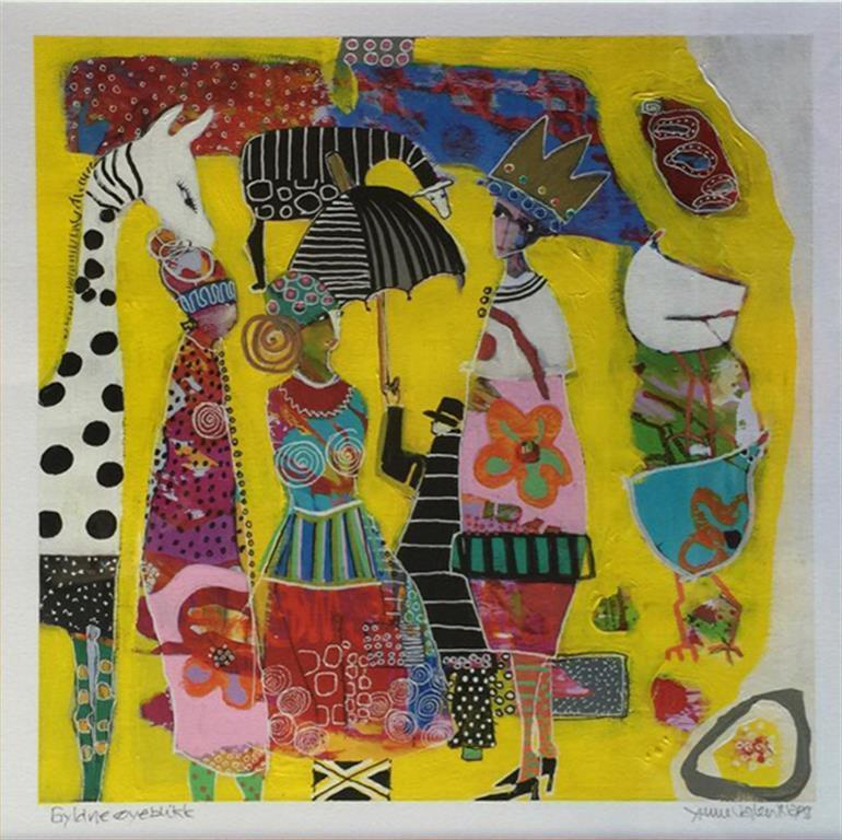 Gyldne oyeblikk Akrylmaleri (27x27 cm ur 55x55 cm mr) kr 4000 mr