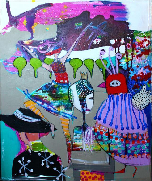 Hattens logikk Akrylmaleri (60x50 cm) kr 6000 mr