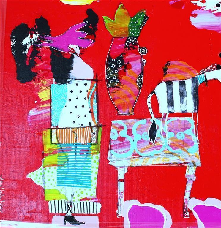 Hver dag Akrylmaleri (40x40 cm) kr 4500mr