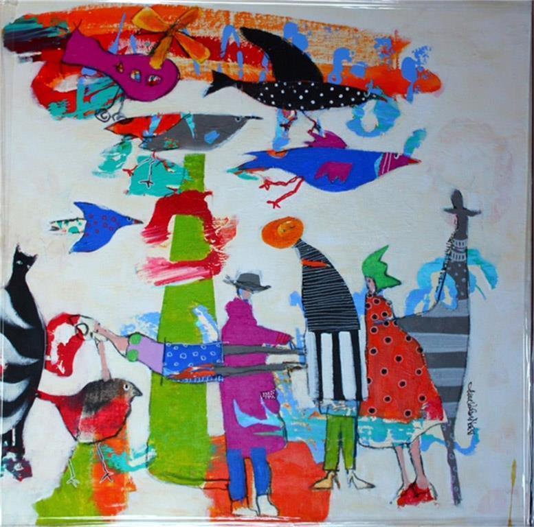 Hvilken fugl Akrylmaleri (60x60 cm) kr 6500 mr