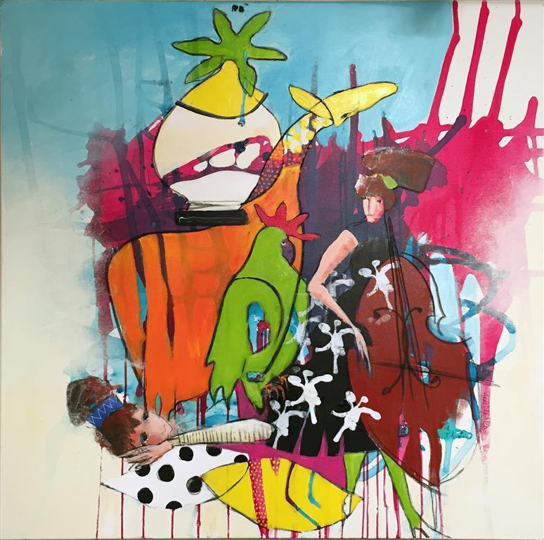 Imagine Akrylmaleri(100x100 cm) kr 11000 ur