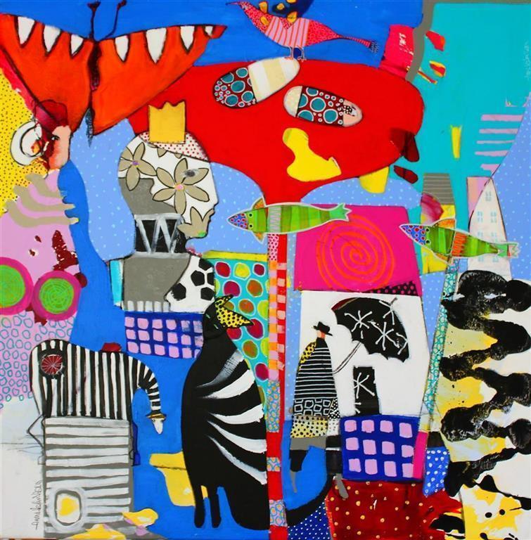 Regnets sang Akrylmaleri (80x80 cm) kr 8500 ur