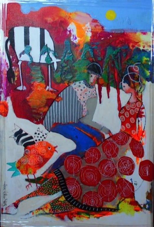 Sang uten ord Akrylmaleri (60x40 cm) kr 5000 mr