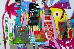 Han er en annen Akrylmaleri (100x100 cm) kr 11000 ur