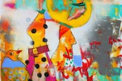 Hva har hun funnet pa na Akrylmaleri (100x100 cm) kr 11000 ur