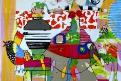 Hvor ble det av den Akrylmaleri (100x100 cm) kr 11000 ur