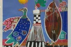 Tidensfraver Akrylmaleri (27x27 cm ur og 55x55 cm mr) kr 4000 mr
