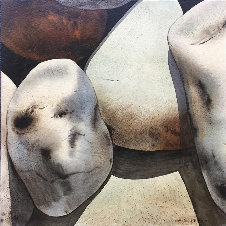 Steinstudie II Akvarell (30x30 cm) kr 3000 ur