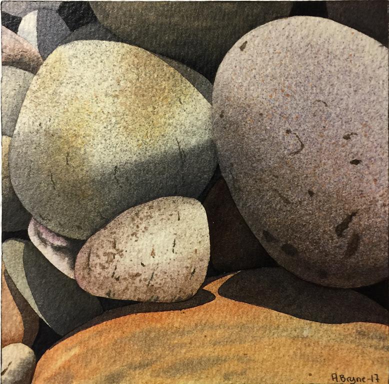 Steinstudie VI Akvarell (15x15 cm) kr 1000 ur