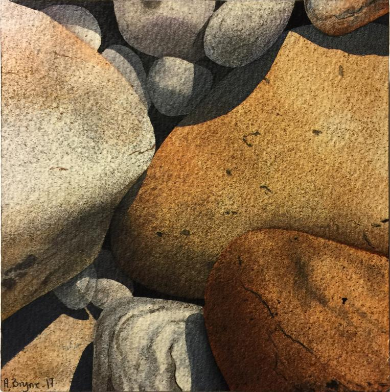 Steinstudie VII Akvarell (15x15 cm) kr 1000 ur