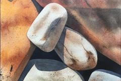 Steinstudie I Akvarell (30x30 cm) kr 3000 ur