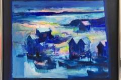 Natthavn I Akrylmaleri (81x100 cm) kr 14000 mr