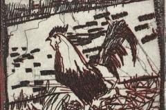 Hane I Etsning (6x6 cm) kr 230 ur