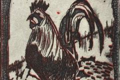 Hane II Etsning (6x6 cm) kr 230 ur