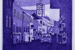 Bergmannsgata Etsning 25x24,5 cm 900 ur