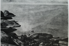 Nesland Litografi 49x65 cm 1700 ur