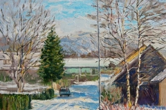 Bright Winter Day In Sandnes Oljemaleri (36x26 cm) kr 3500 ur