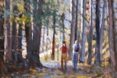 To soestre Akrylmaleri 30x40cm 4500,-kr m.r.