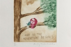 And so the adventure begins Etsning (15x14 cm) kr 1400 ur