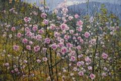 Blomsterglede I Oljemaleri 45x61 cm 3500 ur