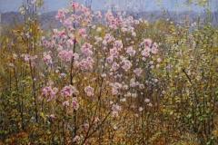 Blomsterglede II Oljemaleri 45x61 cm 3500 ur