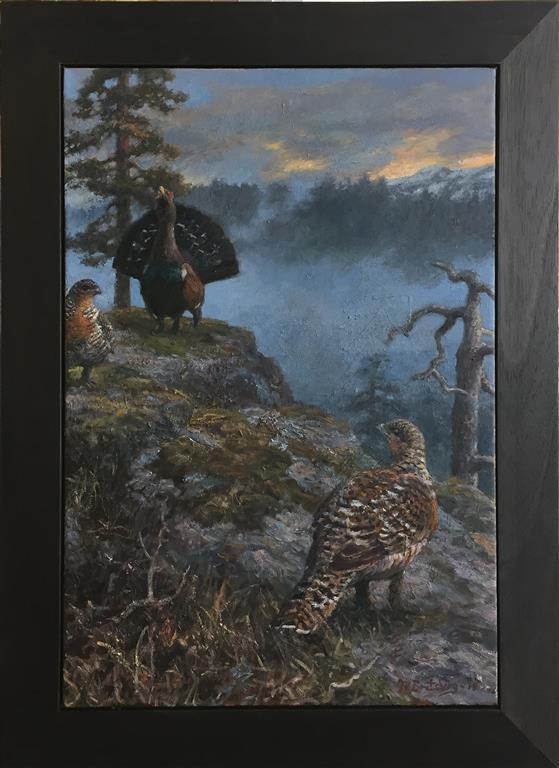Aprilmorgen 2 Tiurleik Oljemaleri (70x50 cm) kr 38000 mr